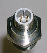 Pins of a temperature sensor
